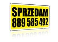 Baner reklamowy typu SPRZEDAM / WYNAJMĘ - dowolny tekst