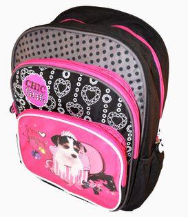 Chic Plecak szkolny dwukomorowy dog
