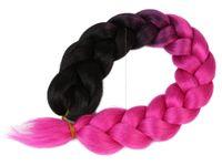 Włosy syntetyczne kolorowe dredy warkocze ozdobne czarne różowe