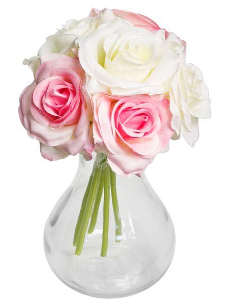 927f92f48bb32d RÓŻE BIAŁY RÓŻ BUKIET DUŻY sztuczne kwiaty PIĘKNY • Arena.pl