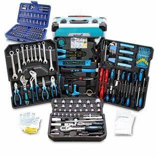 14490 Zestaw w walizce kluczy nasadek do warsztatu 1300 el bity narzęd