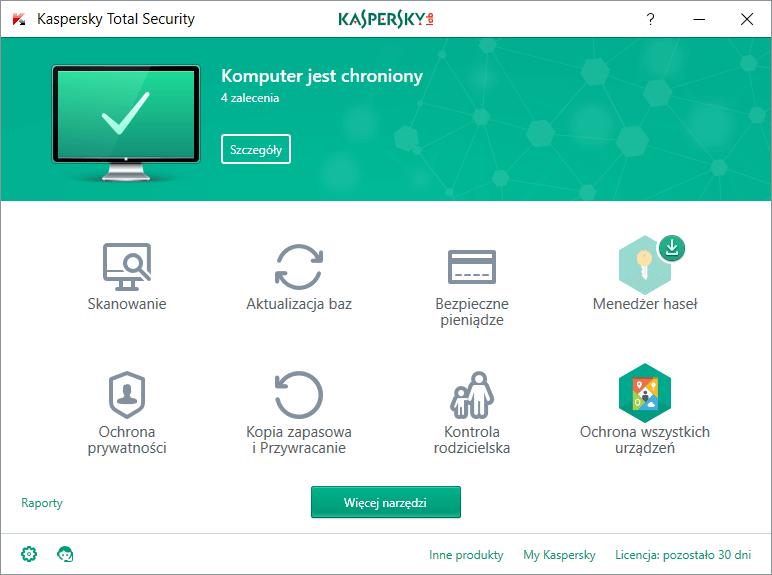 Kaspersky Total Security 1 urządzenie / 90 dni Starter Pack 2020 PL na Arena.pl
