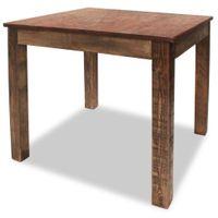 Stół Do Jadalni, Lite Drewno Z Recyklingu, 82X80X76 Cm