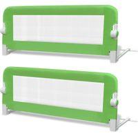 2 barierki do łóżeczka dziecięcego zielone 102x42cm