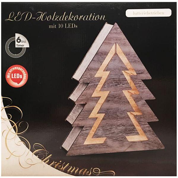 Ozdoba drewniana choinka LED 1j 35cm zdjęcie 4