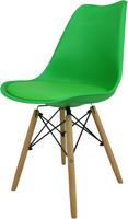 Skandynawskie krzesło KRIS FIORD z krzyżakiem zielone BUKOWE NOGI