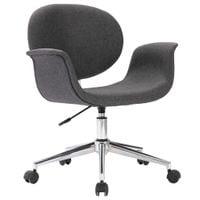 Krzesło biurowe, obrotowe, szara, tkanina