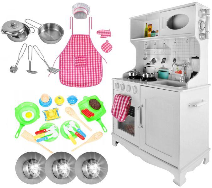 Drewniana Kuchnia Dla Dzieci Światła Dźwięki Granki Akcesoria Z371Z zdjęcie 11
