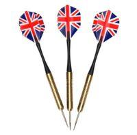 Rzutki do darta 3 szt. wzór brytyjskiej falgi swe
