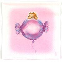 Komplet 20 Serwetek Różowe Baby Pink Serwetki