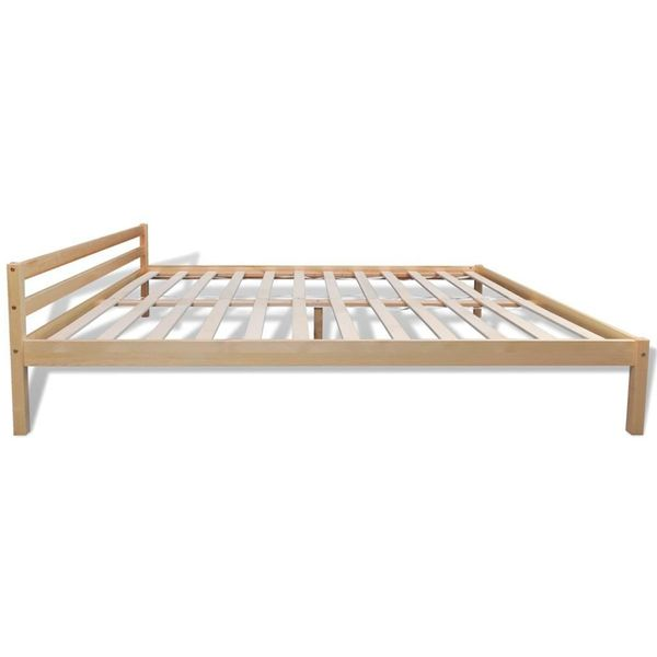 łóżko Rama łóżka Drewno Sosnowe 160x200 Naturalne