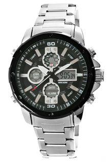 Zegarek Męski Perfect A8026B-2 Dual Time Iluminacja I Fluorescencja