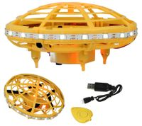 """Mini Dron Latający Lewitujący Inteligentny """"UFO"""" LED Żółty Z447"""