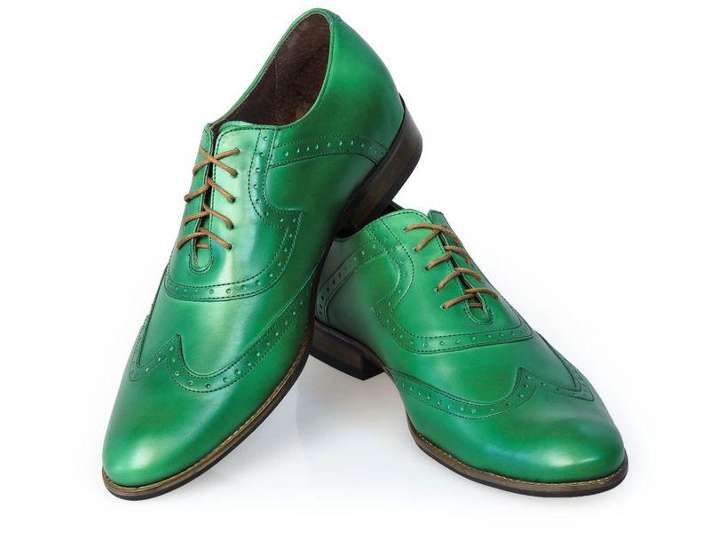 2c6b4cec Zielone męskie buty wizytowe - brogsy T27 Rozmiar Obuwia - 44 • Arena.pl