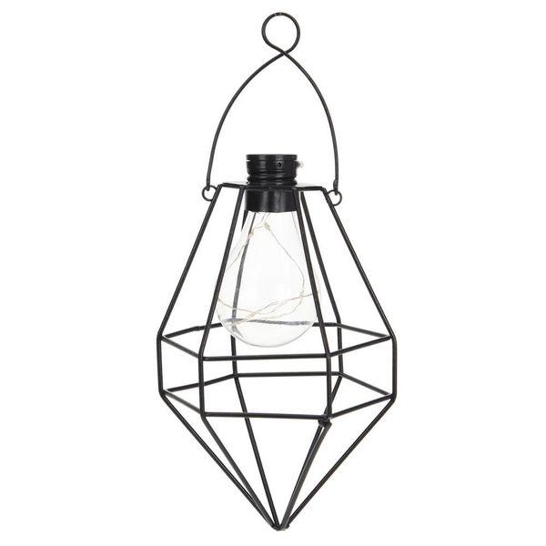 Lampa solarna ogrodowa LED wisząca ekologiczna zdjęcie 1