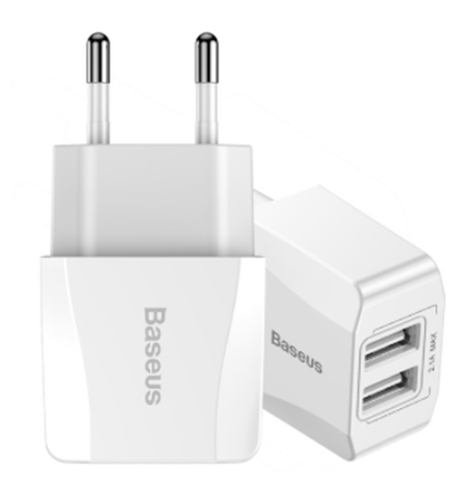 BASEUS | MOCNA ŁADOWARKA 2X USB SAMSUNG HUAWEI LG IPHONE na Arena.pl