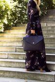 Felice damska skórzana torba na laptopa czarna zdjęcie 6