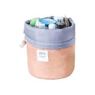 Wysoka damska kosmetyczka worek ze ściagaczem Kolor łososiowy