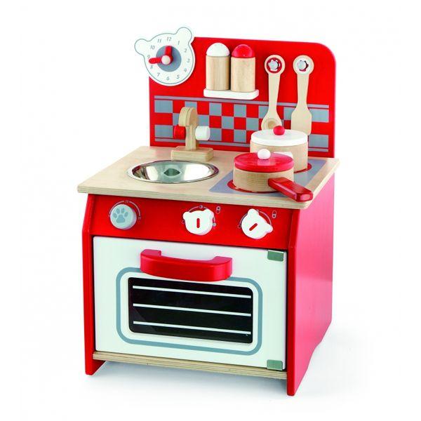 Viga Toys Kuchnia Drewniana Dla Dzieci + Akcesoria zdjęcie 1
