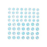 KRYSZTAŁKI SAMOPRZYLEPNE Z BROKATEM 8&10 MM 60 SZT. BABY BLUE DALPRINT