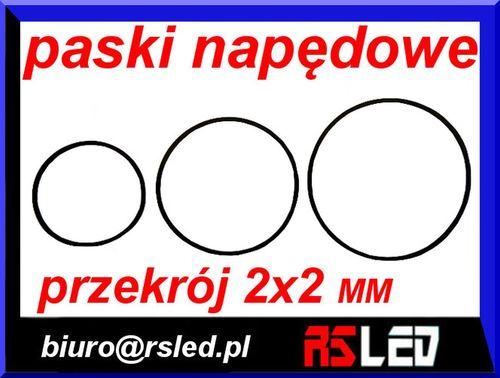 pasek napędowy audio video przekrój 2 x 2 mm duży wybór na Arena.pl