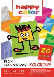 HAPPY COLOR BLOK TECHNICZNY A4 20ARK KOL 170G
