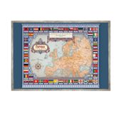 MAPA Europy płótno DEDYKACJA na URODZINY 50x70cm