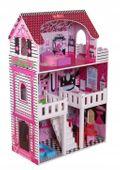 duży 3 piętrowy drewniany domek dla lalek barbie zdjęcie 5