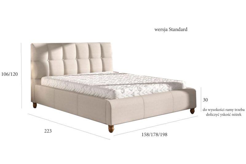 Łóżko tapicerowane STORIE 160x200+ Stelaż zdjęcie 2