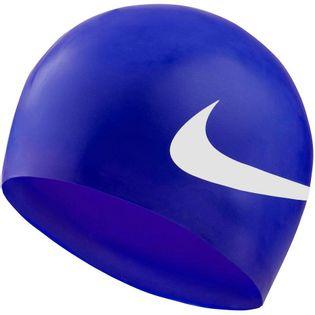 Czepek pływacki Nike Printed Silicon niebieski NESS8163-494