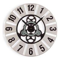 Zegar Ścienny Metal Drewno MDF (60 x 4,5 x 60 cm)