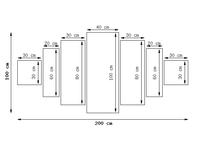 Obraz drukowany płótno 7 elementów 200x100 GRATIS
