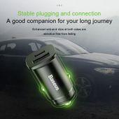 Baseus Square - Ładowarka samochodowa USB-A QC 4.0 + USB-C PD 3.0 30 W (czarny) zdjęcie 10