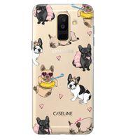 Samsung A6 Plus | clear | etui na telefon guma silikon wzory + szkło