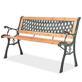 Ławka ogrodowa, 122 cm, drewniana