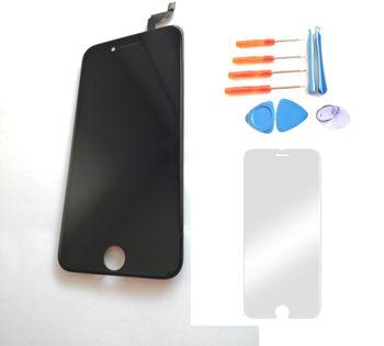 Wyświetlacz iPhone 6s CZARNY  +szkło i narzędzia 