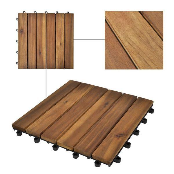 Płytki Tarasowe Drewniane 30x30 10 Sztuk Zestaw