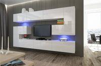 Zestaw salon meblościanka ALBANIA N3 biały połysk Meble