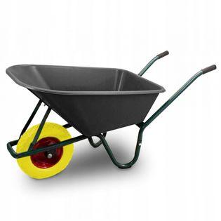 18347 Solidna taczka ogrodowa/budowlana BITUXX z żółtym kołem solidna