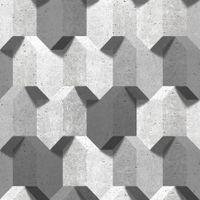 Tapeta Kamień Beton Przestrzenne Bryły Efekt 3D L77909 Ugepa
