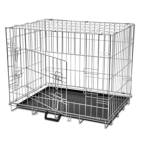 Składana, Metalowa Klatka Dla Psa, Rozmiar L zdjęcie 1