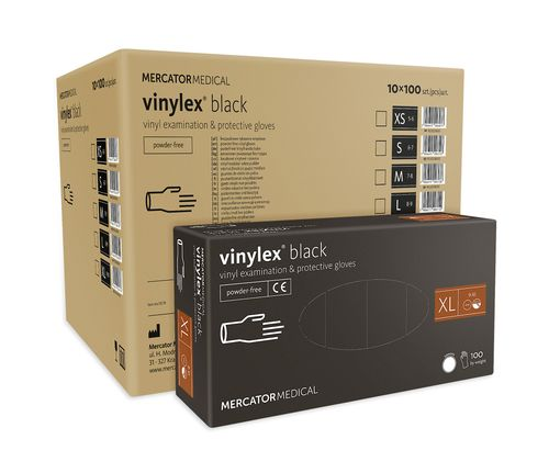 Rękawice winylowe vinylex black rozmiar XL karton 10 x 100 szt na Arena.pl