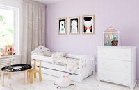 Łóżko POLA 140 x 80 szuflada + GRATIS : Barierka ochronna i materac