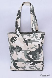Torba Shopperka na zakupy bawełniana szoperka eko zakupowa moro