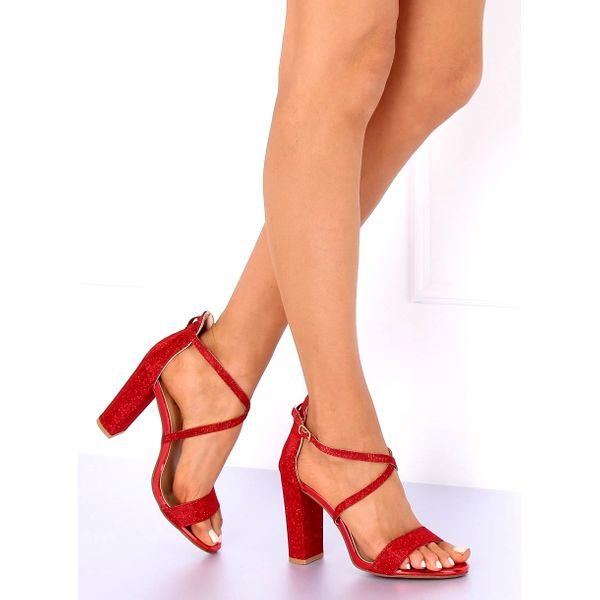 Sandałki na słupku czerwone NC791 Red r.36 zdjęcie 3