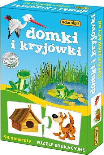 Adamigo PUZZLE Edukacyjne Domki i Kryjówki na Arena.pl