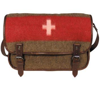 Torba na ramię w stylu vintage flaga szwajcarii sztuczna skóra