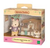 Sylvanian Families Zestaw z bratem królików z czekoladowymi uszkami (łazienka)