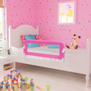 Barierka ochronna do łóżka 102x42cm różowa VidaXL