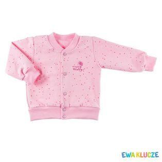 """Bluza rozpinana dla dziewczynki """"SUN"""" Ewa Klucze - różowa,"""